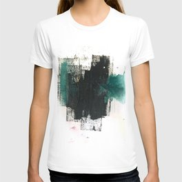 Empire: a minimal, abstract piece in teal and midnight blue by Alyssa Hamilton Art T-shirt