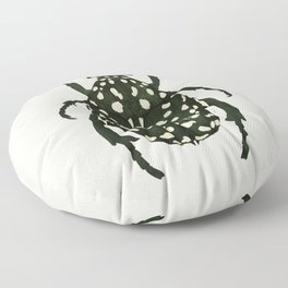 green beetle insect Floor Pillow