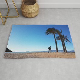 With the palms Rug