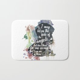 Sherlock Side of the Angels Bath Mat