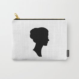 Can't Stop Thinking About Her - Minimalist Black Silhouettes 1 Carry-All Pouch