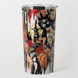 Free Falling, melting floral pattern Travel Mug