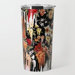 Free Falling, melting floral pattern Travel Mug