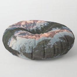 Cascade Sunset - Mt. Shuksan - Nature Photography Floor Pillow