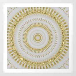 Gold Glitter Mandala Design Art Print