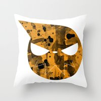 soul eater Throw Pillows featuring Soul Eater by Bradley Bailey