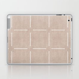 Block Print Simple Squares in Tan Laptop & iPad Skin