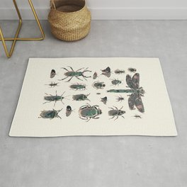 Collection of Insects Rug