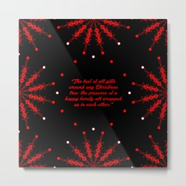 "The best of... ""Burton Hills"" Christmas Quote Metal Print"