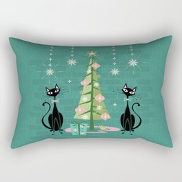 Vintage Kitty Christmas  Rectangular Pillow