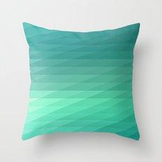 Fig. 043 Mint Green Geometric Diagonal Stripes Throw Pillow