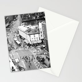 Street people in New York Stationery Cards