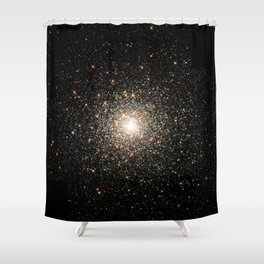 NASA Telescope View Of Globular Cluster of Stars Night Sky Astronomy Space Shower Curtain