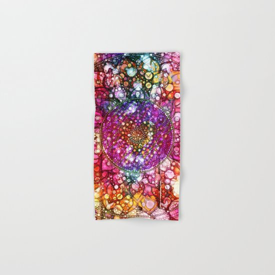 Distressed Mandala  Hand & Bath Towel