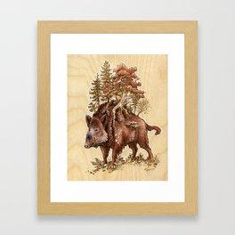 Boar of the Woods Framed Art Print
