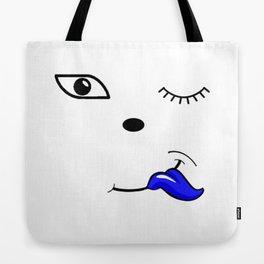 The Blue Tongue Tote Bag
