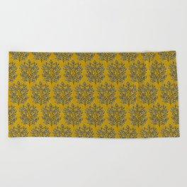 MARA GOLD LEAF Beach Towel