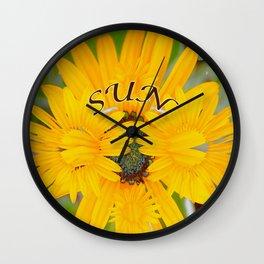 Captured Sun Wall Clock