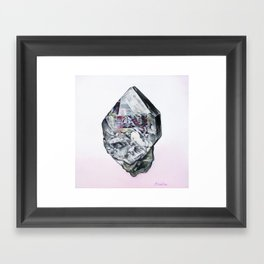 Herkimer Diamond Framed Art Print