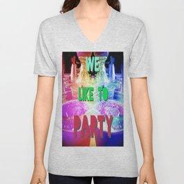 We Like To Party Unisex V-Neck