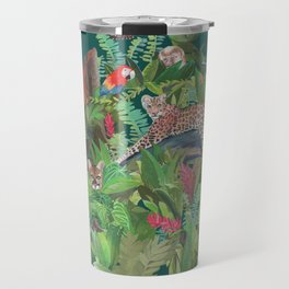 Into the Wild Emerald Forest Travel Mug