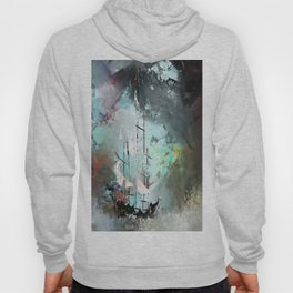 Boat in The Storm 8 Hoody