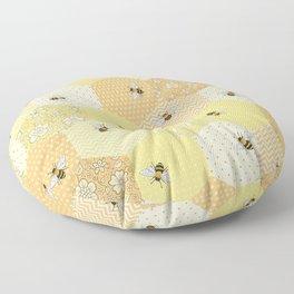 Patchwork Bees Pattern Floor Pillow