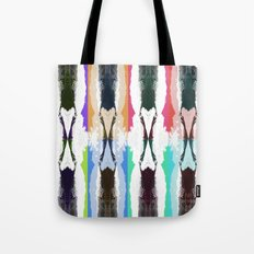 Mountain fence Tote Bag