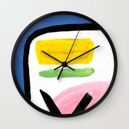 Bright abstract arrows Wall Clock