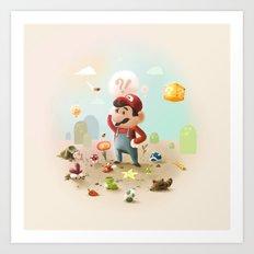 Too Super Mario Art Print
