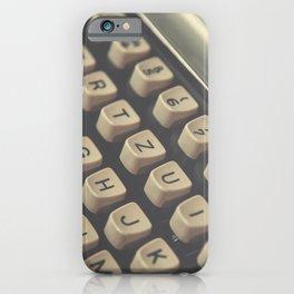 Closeup of vintage typewriter keys iPhone Case
