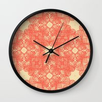 wild things Wall Clocks featuring Wild Things by monasita