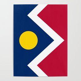 Denver City Flag - Authentic High Quality Poster