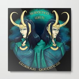 Burdened With Glorious Queerness 2 Metal Print
