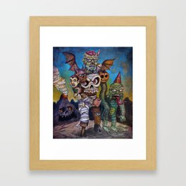 The Master of Monsters Framed Art Print