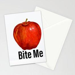 Muérdeme manzana roja Stationery Cards