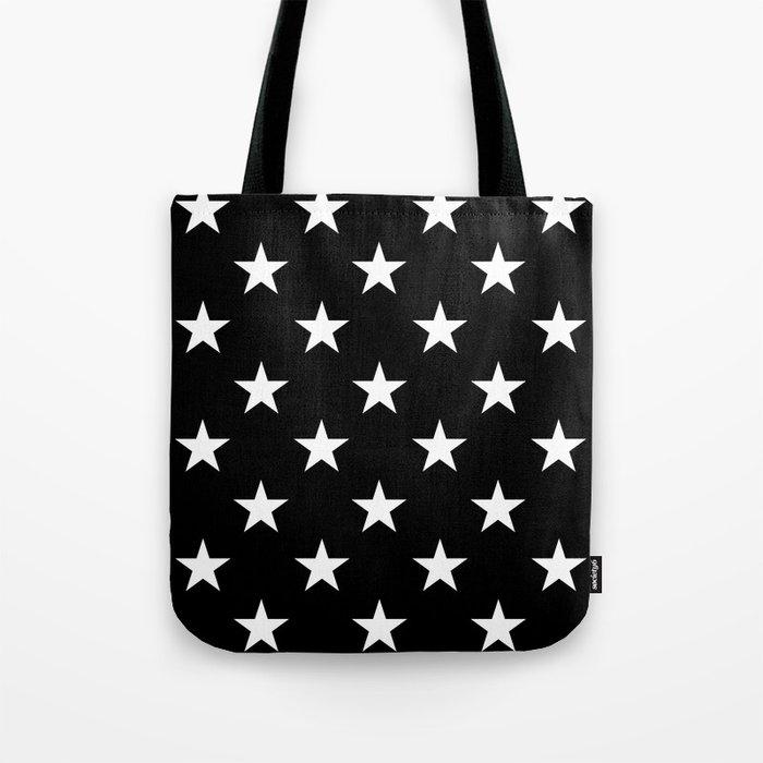 Stars (White/Black) Umhängetasche