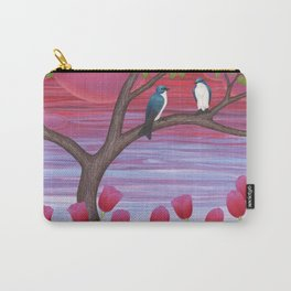 tree swallows & tulips at sunrise Carry-All Pouch