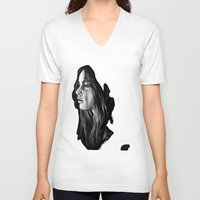 katniss V-neck T-shirts featuring Katniss Everdeen by apostatemages