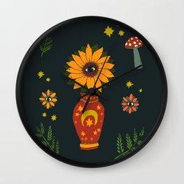 Magic Sunflower Vase Wall Clock