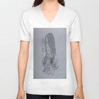 darren criss V-neck T-shirts featuring Criss Angel by TheArtOfFaithAsylum