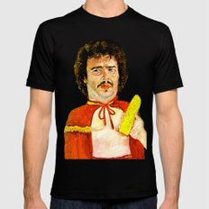 Get That Corn Out Of My Face! Mens Fitted Tee Black MEDIUM