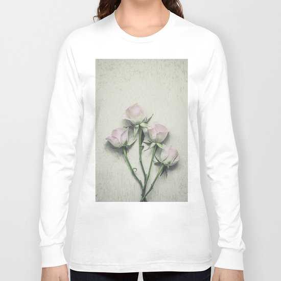 Delicate Roses Long Sleeve T-shirt