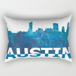 Austin Texas Skyline Silhouette Strong with Text Rectangular Pillow