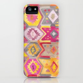 Kilim Me Softly in Pink iPhone Case