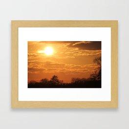 Turbo sunset  Framed Art Print