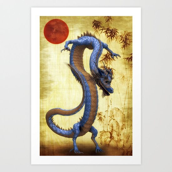 Chinese Dragon   Long  Art Print