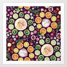 Fruit fun Art Print
