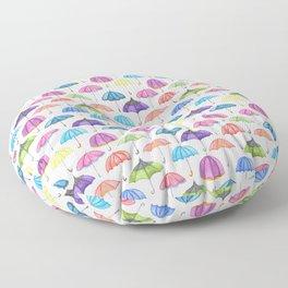 Rainy Day Umbrellas Floor Pillow