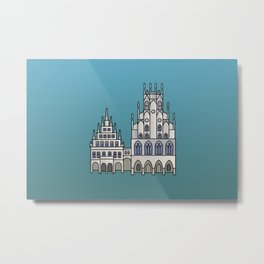 Town Hall Münster Metal Print